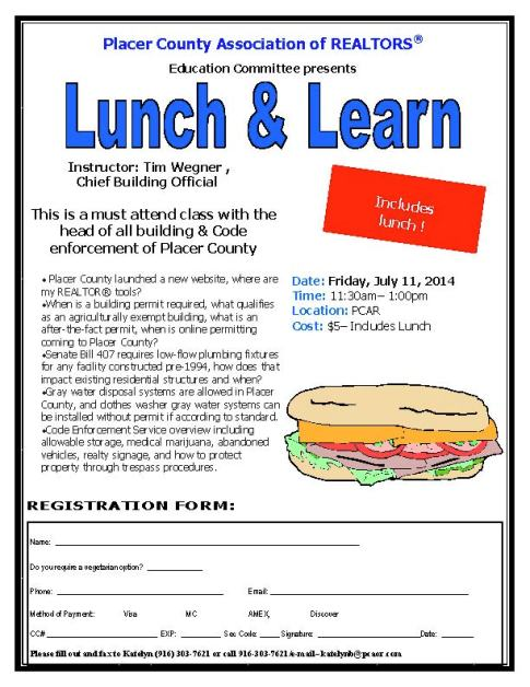 Lunch and Learn Code Enforcement July 11